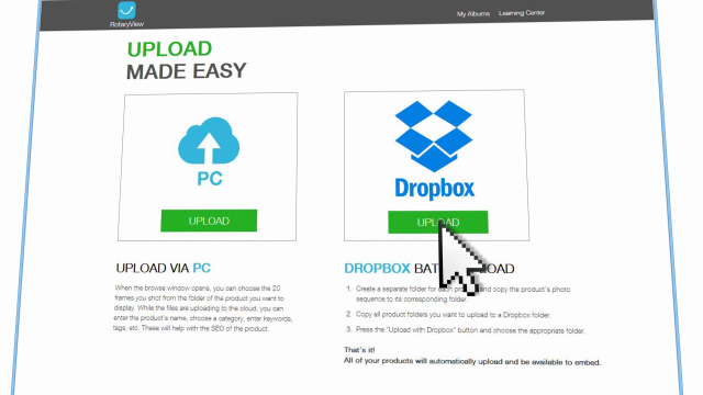 RotaryView - DropBox Upload Tutorial