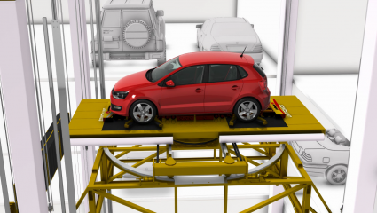 (Unitronics Robotic Parking Solution (L-shape